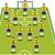 fútbol · formación · táctica · vector · negro · formación - foto stock © suljo