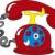 rabisco · telefone · ícone · símbolo · círculo - foto stock © suljo