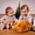 halloween · dzieci · dziewcząt · drzewo · dwa · strony - zdjęcia stock © superelaks