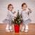 kız · ikizler · ayakta · birlikte · genç · kadın - stok fotoğraf © superelaks