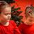 fogad · ajándék · mikulás · portré · aranyos · kislány - stock fotó © superelaks