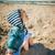 küçük · kız · tatil · sahil · ayakta · plaj · iki - stok fotoğraf © superelaks