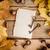 paper, keys and autumn leaves stock photo © superelaks