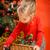küçük · kız · Noel · sepet · tok · süslemeleri - stok fotoğraf © superelaks
