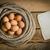 yumurta · sepet · halat · kâğıt · tablo · Eski · kağıt - stok fotoğraf © superelaks