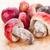 friss · rózsás · gombák · fából · készült · tányér · piros - stock fotó © supersaiyan3