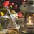 Рождества · фонарь · украшения · снега · серебро · небе - Сток-фото © supertrooper