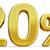 3d gold 20 twenty percent discount sign stock photo © supertrooper