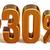 3D · or · 30 · pour · cent · réduction · signe - photo stock © Supertrooper