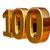 altın · 3D · yıldönümü · imzalamak · doğum · günü · 100 - stok fotoğraf © Supertrooper
