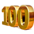 or · 3D · anniversaire · signe · anniversaire · 100 - photo stock © Supertrooper