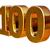 oro · uno · cien · 3D · número · aniversario - foto stock © supertrooper