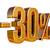 3d gold 30 percent discount sign stock photo © supertrooper