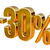 3D · altın · 30 · yüzde · indirim · imzalamak - stok fotoğraf © supertrooper