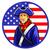 American Minutemen in Circle Shape Flag stock photo © superzizie