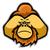 fej · majom · mosolyog · fehér · szemek · háttér - stock fotó © superzizie