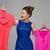 happy girl with dresses stock photo © svetography