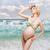 mujer · azul · traje · de · baño · cuerpo · playa · nina - foto stock © svetography