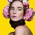 hermosa · niña · floral · cabeza · hermosa · rubio - foto stock © svetography