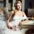 фото · счастливым · платье · букет - Сток-фото © svetography