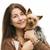 portrait · heureux · vétérinaire · souriant · caméra · chien - photo stock © svetography