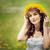 piękna · dziewczyna · kwiaty · portret · piękna · młoda · kobieta - zdjęcia stock © svetography