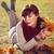 Asya · sonbahar · kadın · düşmek · yaprakları - stok fotoğraf © svetography