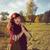 boldog · nő · erdő · élvezi · természet · lány - stock fotó © svetography