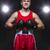 jeunes · boxeur · rouge · forme · adolescent · gants · noirs - photo stock © svetography