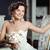 写真 · 幸せ · 若い女性 · ドレス · 花束 - ストックフォト © svetography