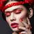 bela · mulher · vermelho · flores · vermelhas · rosas · estúdio - foto stock © svetography