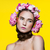 beautiful girl with floral headphones stock photo © svetography