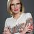 retrato · sorridente · mulher · óculos · lábios · vermelhos - foto stock © svetography