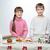 család · karácsony · sapkák · készít · mézeskalács · süti - stock fotó © svetography