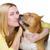 cane · ragazza · capelli · amici - foto d'archivio © svetography