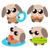 Cartoon · perro · ilustración · acción · emoción · verano - foto stock © sweetcrisis