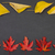 autumn colorful fallen leaves in rows on dark grey background stock photo © szabiphotography