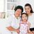 aile · nesiller · mutlu · Asya · aile · ev · büyükbaba · veya · büyükanne - stok fotoğraf © szefei