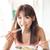 Asia · nina · comer · desayuno · retrato · feliz - foto stock © szefei