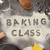 word baking class written in white flour stock photo © szefei