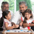 multi generations family playing games together stock photo © szefei