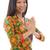 délkelet · ázsiai · női · üdvözlet · hagyományos · kézmozdulat - stock fotó © szefei