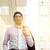Asia · hombre · de · negocios · caminando · vista · lateral · aislado - foto stock © szefei