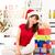Noel · hazırlık · mutlu · Asya · kadın - stok fotoğraf © szefei