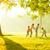 grupo · crianças · correndo · feliz · criança · jardim - foto stock © szefei
