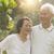 Asian seniors couple at outdoor park stock photo © szefei