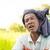 мужчины · фермер · портрет · области · зеленый · фермы - Сток-фото © szefei