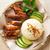 lezzetli · Singapur · tavuk · pirinç · Asya · stil - stok fotoğraf © szefei