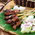grillezett · hús · felszolgált · földimogyoró · mártás · uborka · Malajzia - stock fotó © szefei