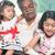 generációk · indiai · családi · portré · családi · otthon · ázsiai · emberek - stock fotó © szefei